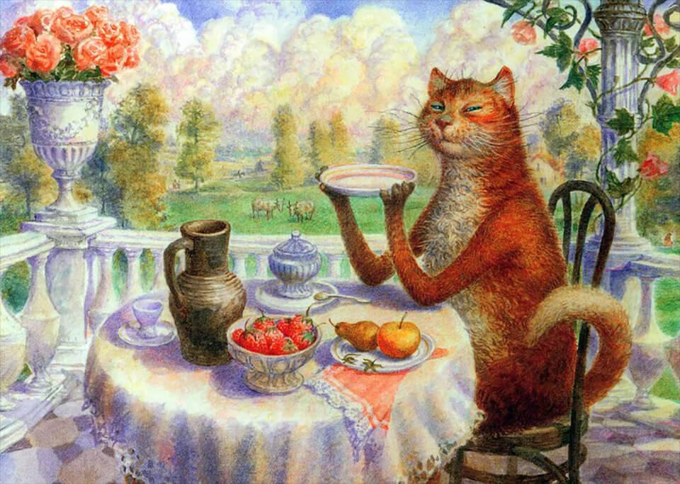 Смешные рисунки чаепития